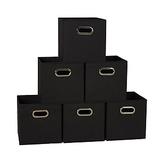 Household Essentials 83-1 Foldable Fabric Storage Bins Set of 6