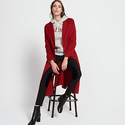 Sandro Felted-Fleece Wool and Cotton Coat