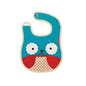 Skip Hop Zoo Little Kid and Toddler Tuck-Away Water Resistant Baby Bib, Multi Otis Owl