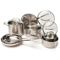 Cuisinart 12-Piece Stainless Steel Cookware Set