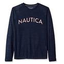 Nautica Men's Long Sleeve Graphic Sleep Tee, Navy, Small