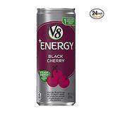 V8 +Energy Black Cherry Vegetable & Fruit Juice Pack of 24