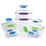 Sistema Multi Piece Food Storage Containers in Assorted Shapes and Colors, Set of 20, Assorted