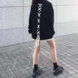 DBYD.GNAK 中性绑带个性卫衣(黑色短袖款)