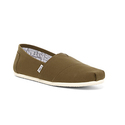 TOMS Canvas Classic Slip-On Shoe - Dark Green