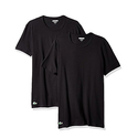 Lacoste Men's 2-Pack Colours Cotton Stretch Crew T-Shirt - Black