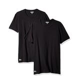 Lacoste Men's 2-Pack Colours Cotton Stretch Crew T-Shirt - Black