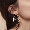Zealmer Handmade Human Face Head Earrings