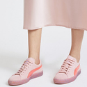 PUMA X Sophia Webster Suede Sneakers - Crystal Rose