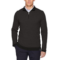 Calvin Klein Men's Merino Textured Tweed 1/4 Zip Sweater