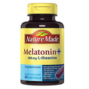 Nature Made Melatonin + with 200 Mg L-theanine, 60 Count