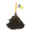 Everclean 6049.0 Ostrich Duster, Wood Handle, Natural Feathers