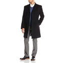 Tommy Hilfiger Men's Barnes 38 Inch Single Breasted Top Coat, Charcoal, 42/Regular