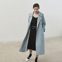 Marron Edition Sky Blue Oversized Trench Coat