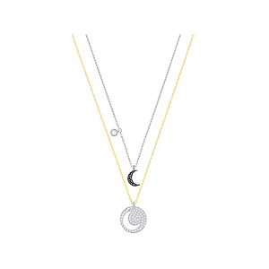 Swarovski Crystal Wishes Moon Pendant Set - Black