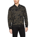 Calvin Klein Jeans Men's Camo Baseball Jacket, Black, X-Large
