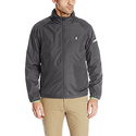 IZOD Men's True Lightweight Windbreaker With Reflective Tape, Black, Small