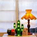 YiaMia LED Cactus Light Cute Night Table Lamp Light