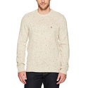 Original Penguin Men's Long Sleeve Nep Crew Sweater, Oatmeal, Extra Large
