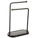 AmazonBasics Double-L Hand Towel and Accessories Stand - Bronze