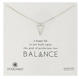 Dogeared 'Balance' Open Tri Sterling Silver Chain Necklace