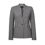 Lean-Fit Fluted-Sleeve Blazer
