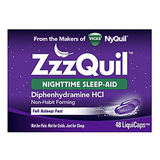 Vicks ZzzQuil Nighttime Sleep Aid LiquiCaps 48 ct