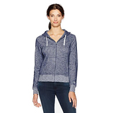 Champion Women's Distressed Full Zip Hoodie (Edition), Navy, XL