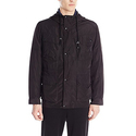 Cole Haan Signature Men's Oxford Nylon 3 In 1 Hooded Parka, Black, Large