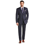 Tailored Fit Plaid Suit