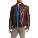 Kenneth Cole REACTION Men's Faux-Leather Moto Jacket - Medium