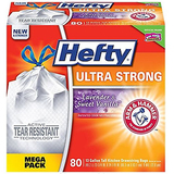 Hefty Ultra Strong Trash Bags 13 Gallon, 80 Count