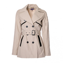 Coats Direct:Extra 30% OFF  Trench Coat with Leather Trim