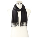 Phenix Cashmere Men's Solid Scarf-Black
