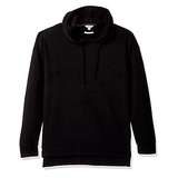 Calvin Klein Men's Long Sleeve Fabric Blocked Double Collar Crew Neck Hoodie, Black, X-Large