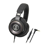 Audio-Technica ATH-WS1100iS Solid Bass Over-Ear Headphones with In-line Microphone & Control