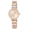 Anne Klein Women's AK/2434RGRG Diamond-Accented Rose Gold-Tone Bracelet Watch