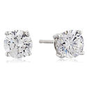 Amazon Collection Round-Cut Swarovski Zirconia Stud Earrings