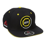 UFC Adult Unisex Authentic Flat Brim Snapback, One Size, Black/Yellow