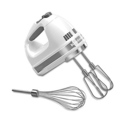 KitchenAid KHM7210WH 7-Speed Digital Hand Mixer with Turbo Beater II Accessories and Pro Whisk