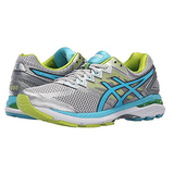 ASICS Women's GT-2000 4 Running Shoe, Silver/Turquoise/Lime Punch, 6 2A US