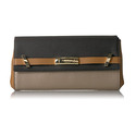 Calvin Klein Brooke Tumbled Leather Clutch, Mtlc Tpe Combo