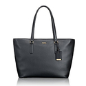 Tumi Women's Voyageur Leather Carolina Travel Tote - Black