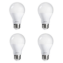 Philips LED Non-Dimmable A19 Frosted Light Bulb: 1500-Lumen, 5000-Kelvin, 14-Watt (100-Watt Equivalent), E26 Base, Daylight, 4-Pack