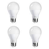 Philips LED Non-Dimmable A19 Frosted Light Bulb: 1500-Lumen, 5000-Kelvin, 14-Watt (100-Watt Equivalent), E26 Base, Daylight, 4-Pack