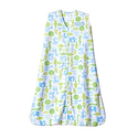 Halo SleepSack Micro-Fleece Wearable Blanket, Blue Jungle, Large