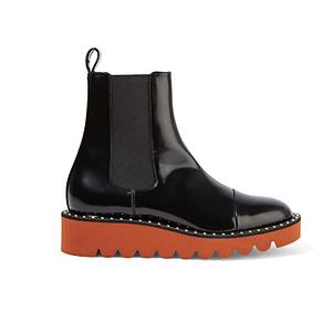 Stella McCartney 漆皮铆钉切尔西靴
