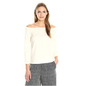 Theory Women's Aprine New Stretch L Top, Shell White, M