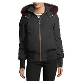 Moose Knuckles Latreille Zip-Front Bomber Jacket w/ Fur Collar