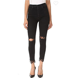 MOTHER The Swooner Dagger Ankle Fray Jeans